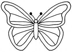 Monochrome clipart butterfly