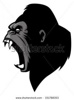 Symmetry clipart gorilla face