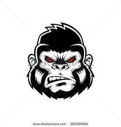 Symmetry clipart gorilla head