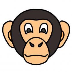 Chimpanzee clipart gorilla face