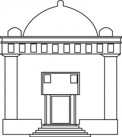 Synagogue clipart black and white
