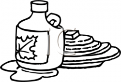 Drawn pancake maple syrup