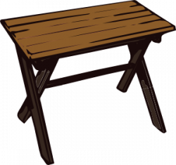 Furniture clipart wooden table