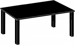 Bookcase clipart wooden table