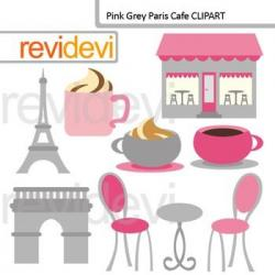 Eiffel Tower clipart french cafe