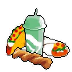 Taco clipart 8 bit