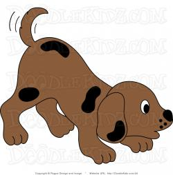 Line Art clipart dog tail