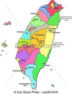 Taiwan clipart Taiwan Map Clipart