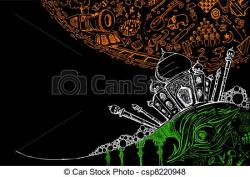 Taj Mahal clipart abstract