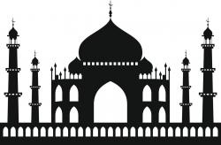 Taj Mahal clipart building shadow