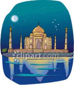 Taj Mahal clipart cartoon