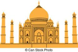 Taj Mahal clipart colorful