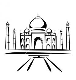 Taj Mahal clipart drawing