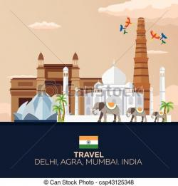 Taj Mahal clipart indian tourism