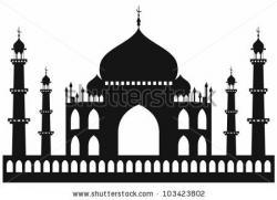 Taj Mahal clipart sketch