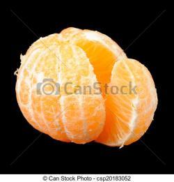 Tangerine clipart peeled