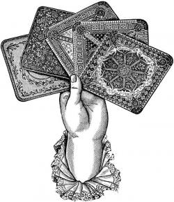 Tarotcards clipart black and white