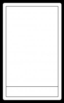 Tarotcards clipart blank
