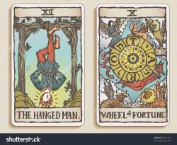 Tarotcards clipart hand drawn
