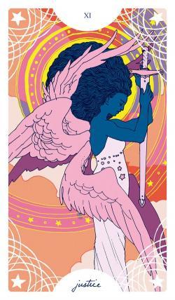 Tarotcards clipart pink