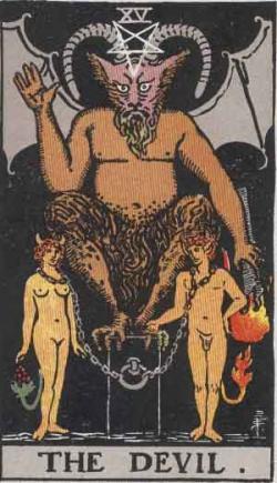 Tarotcards clipart satanic