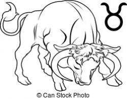 Taurus clipart black and white