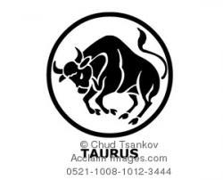 Taurus clipart black bull