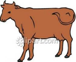 Taurus clipart brown cow