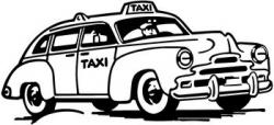 Taxi clipart black and white