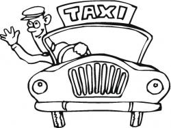 Taxi clipart coloring