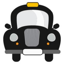 Taxi clipart front view
