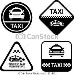 Taxi clipart logo