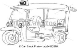 Taxi clipart outline