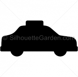 Taxi clipart silhouette