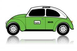 Taxi clipart vector