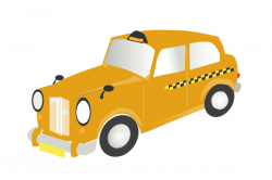 Taxi clipart yellow taxi