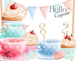 Teacup clipart bunting