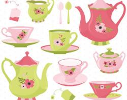 Kettle clipart tea party