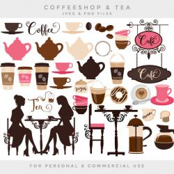 Tea Party clipart cafe