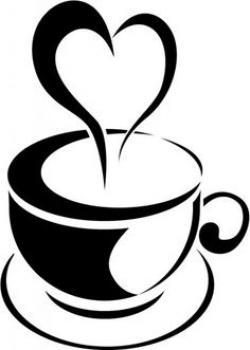 Steam clipart coffee heart