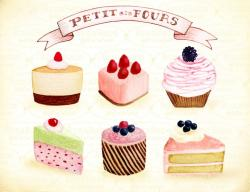 Cupcake clipart shabby chic