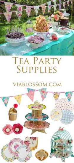 Tea Party clipart dessert table