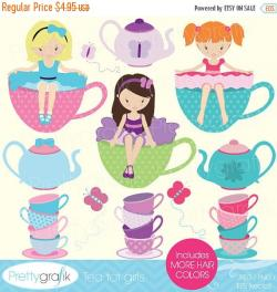 Tea Party clipart digital clip