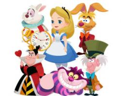 Alice In Wonderland clipart storybook character