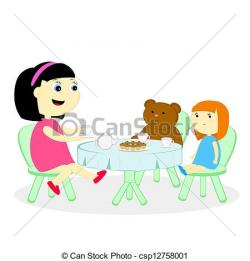 Tea Party clipart doll