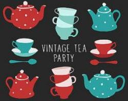 Tea Party clipart vintage spoon