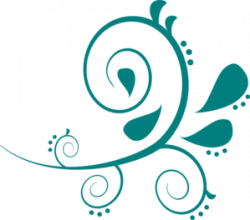 Swirl clipart teal