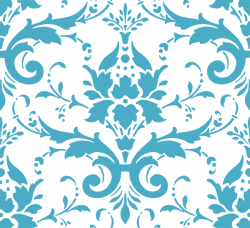 Damask clipart teal