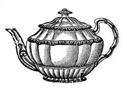 Teapot clipart grey