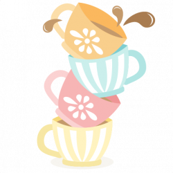 Teacup clipart stacked